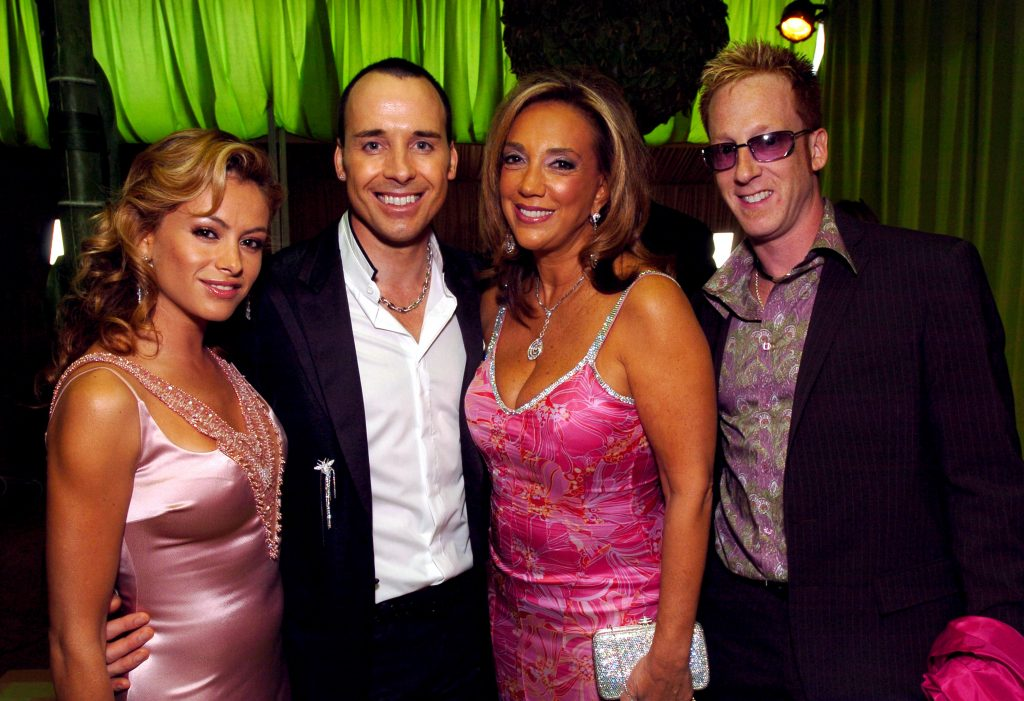 Denise Rich, Paulina Rubio, David Furnish