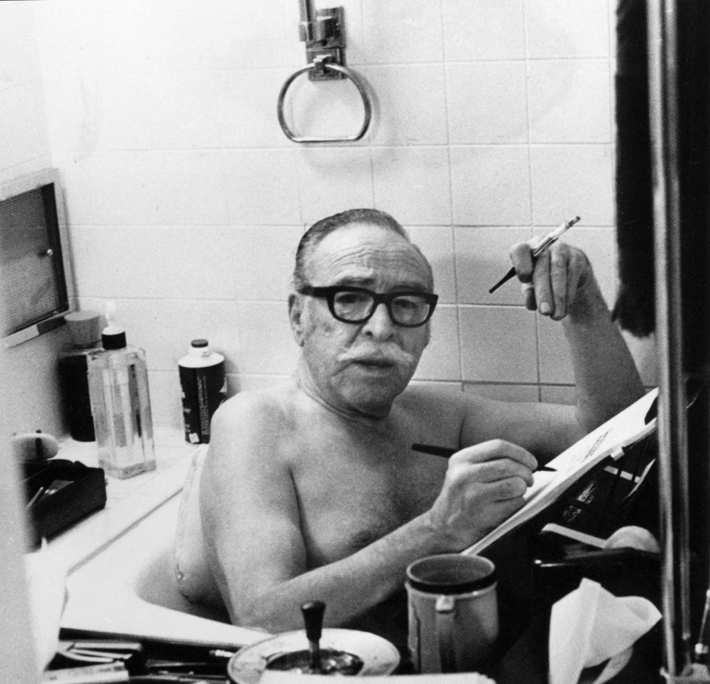 Trumbo writing bathtub