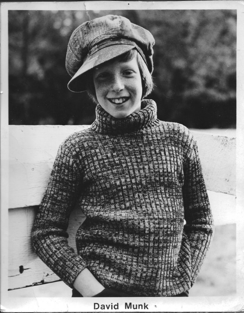 David Munk 1970s child actor