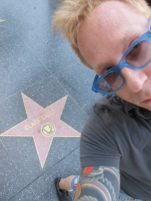 A sunny day paying tribute to the stars of Hollywood Boulevard.