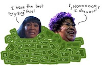 Divas Cry Too! Unusual Aretha Franklin/Patti LaBelle Meme