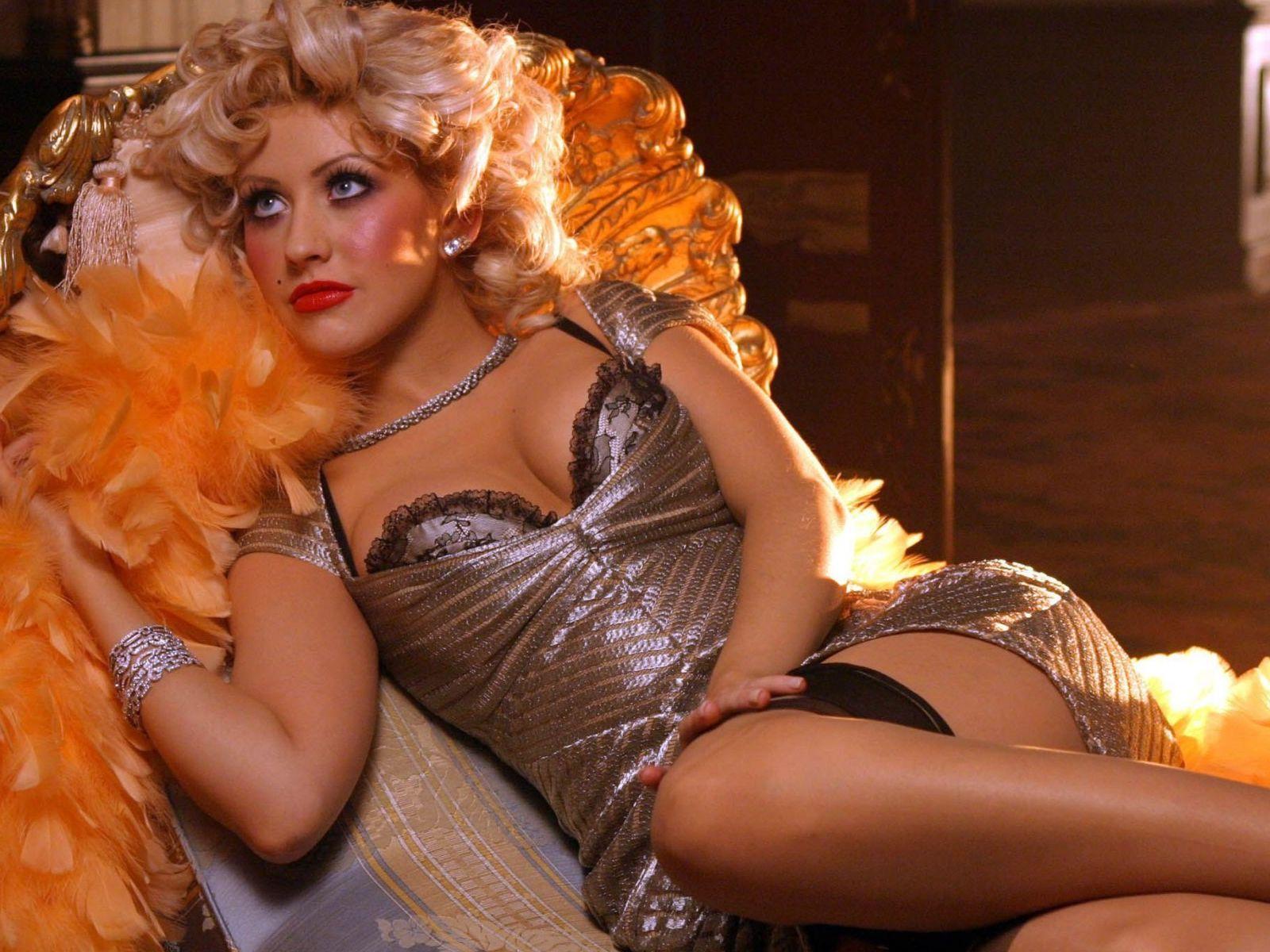 Christina Aguilera Silver retro