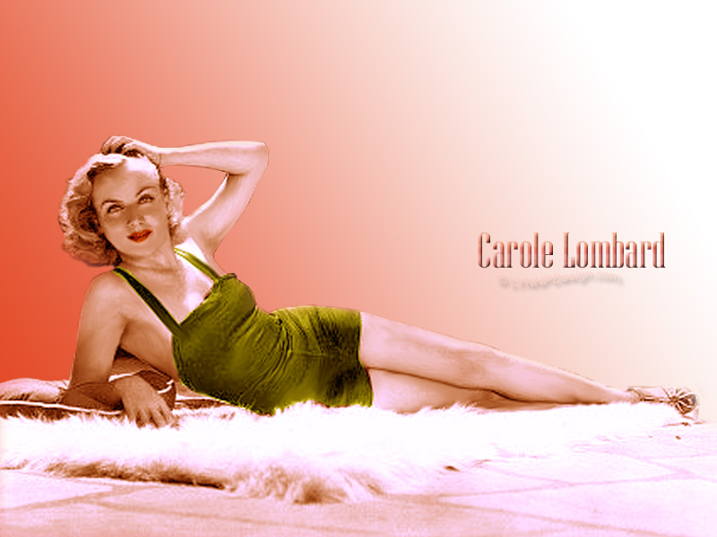 Carole Lombard color wallpaper