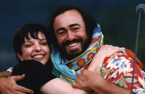Liza Minnelli and Luciano Pavarotti