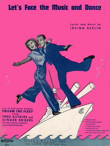 "Irving Berlin ""Let's Face the Music and Dance"" sheet music"