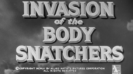 Invasion of the Body Snatchers (1958) title card