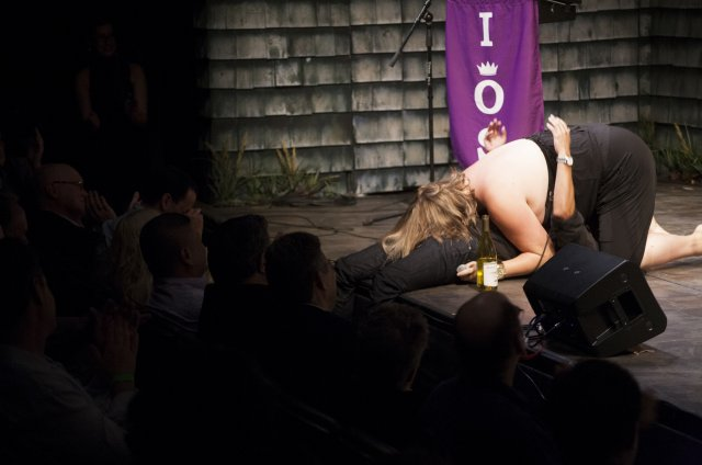 Bridget Everett performing at the Night of a Thousand Judys. Photographed by Santiago Felipe