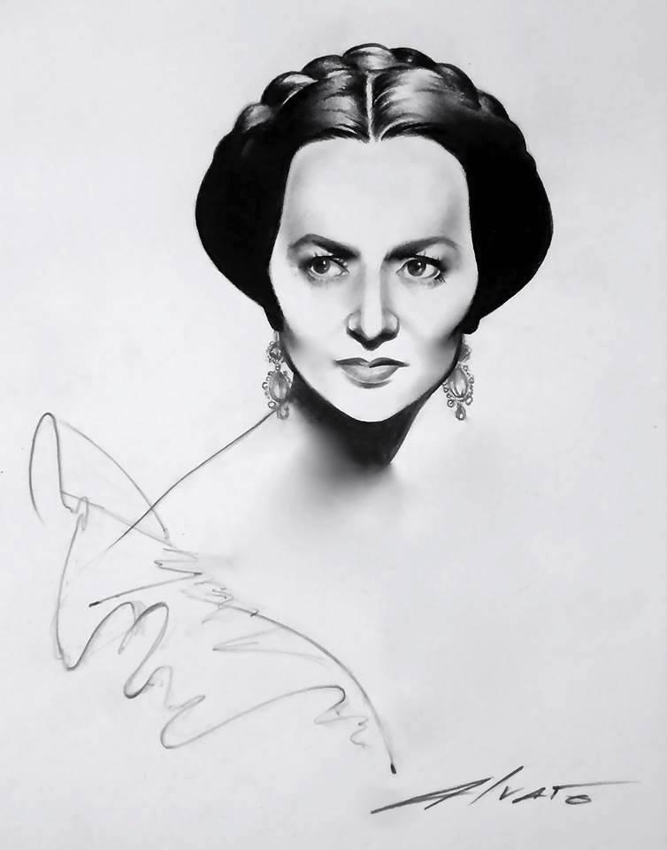 Olivia De Havilland illustration