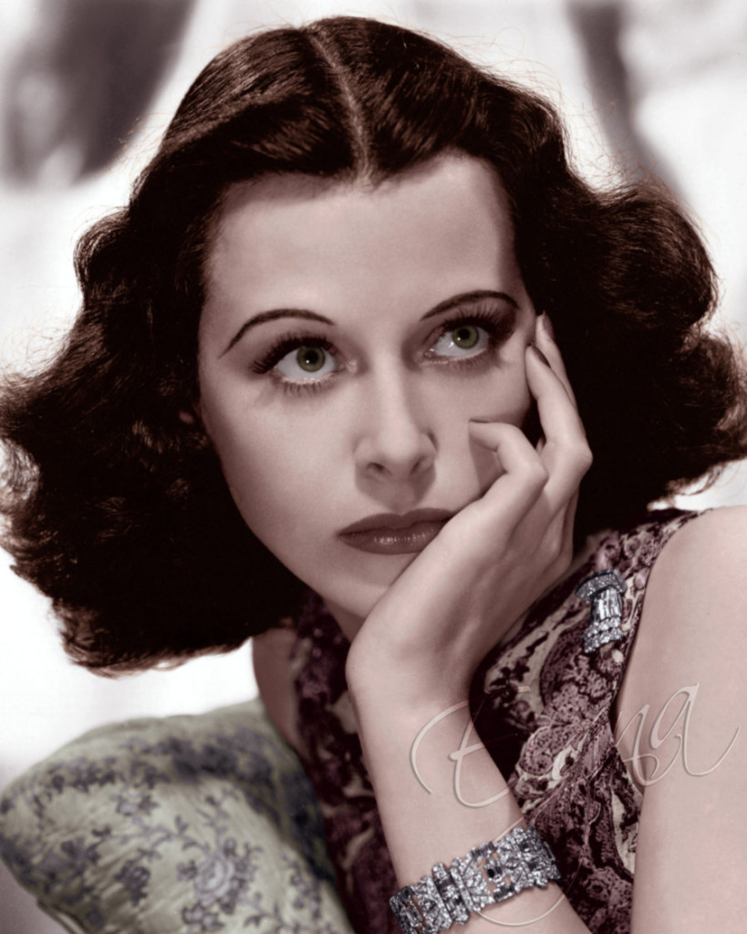 Hedy Lamarr, color