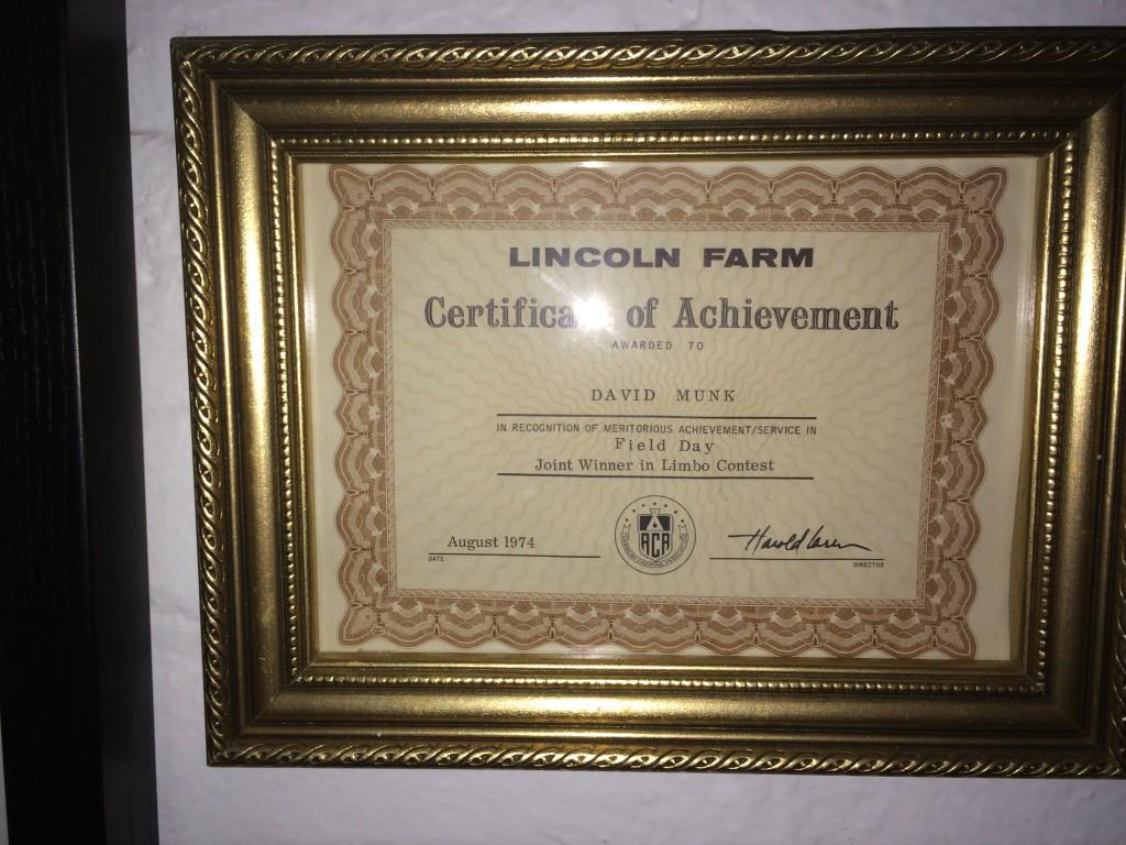 Lincoln Farm award
