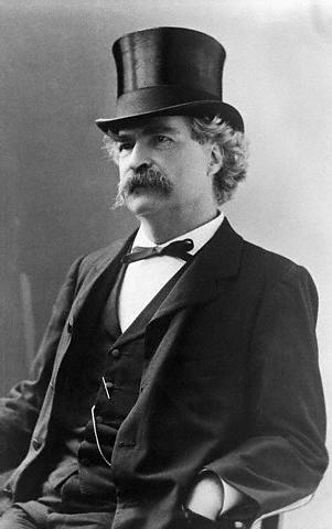 Mark Twain, tophat