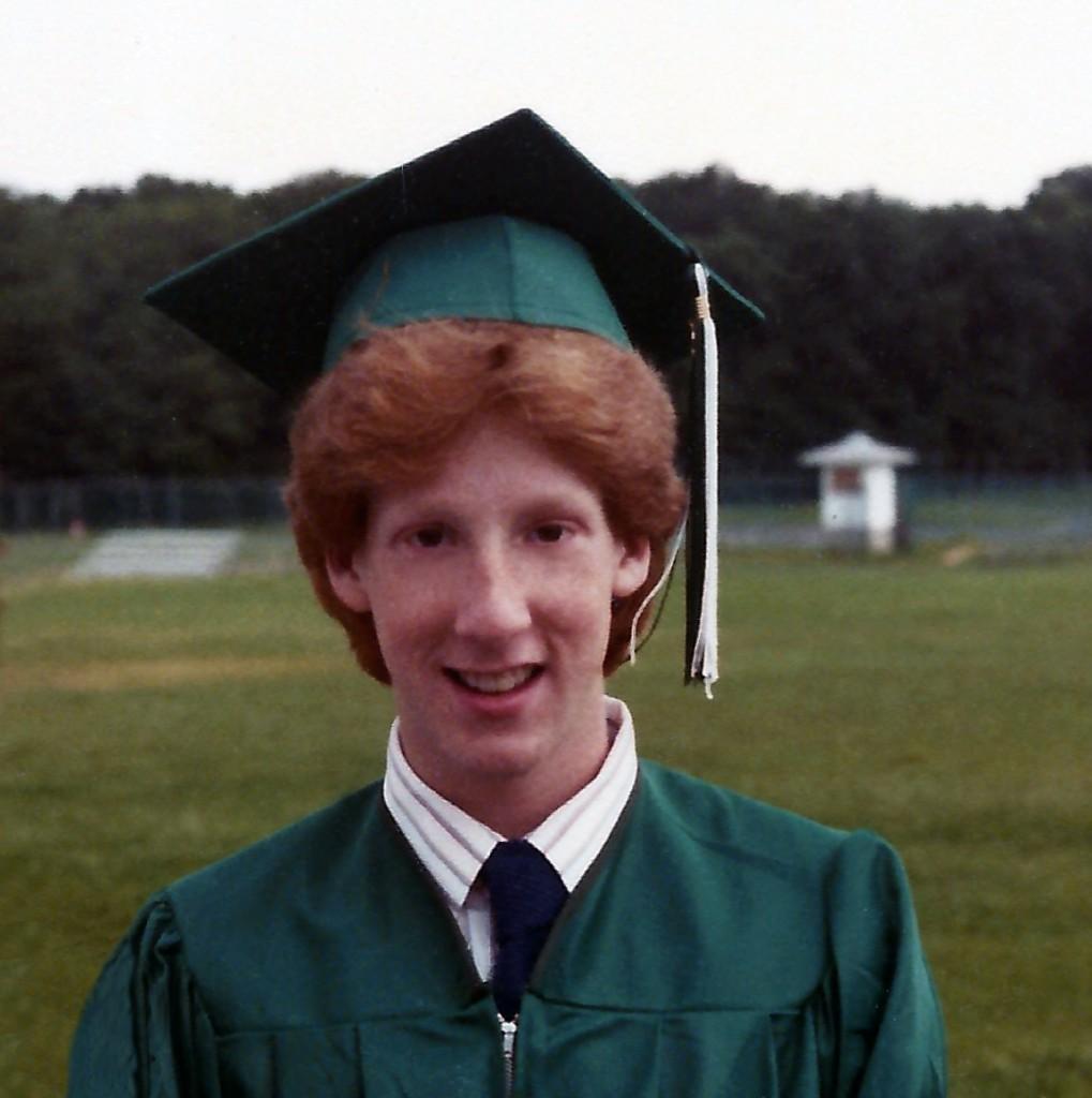 High School graduation, 1980s