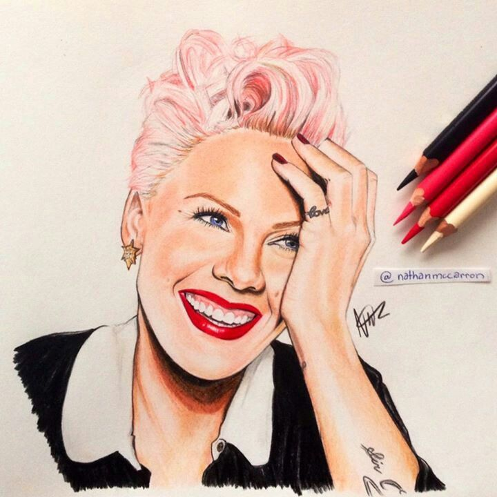 Illustration of Pink (singer)