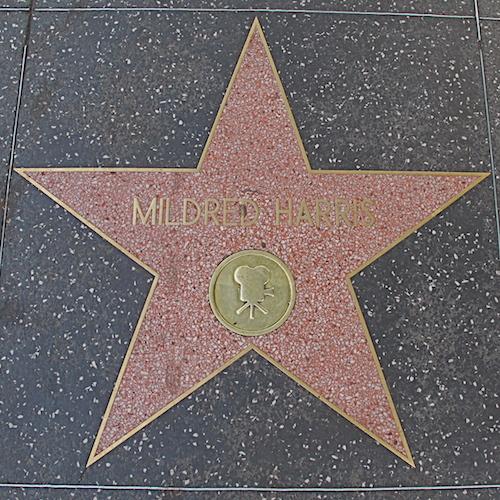 Mildred Harris star, walk of fame