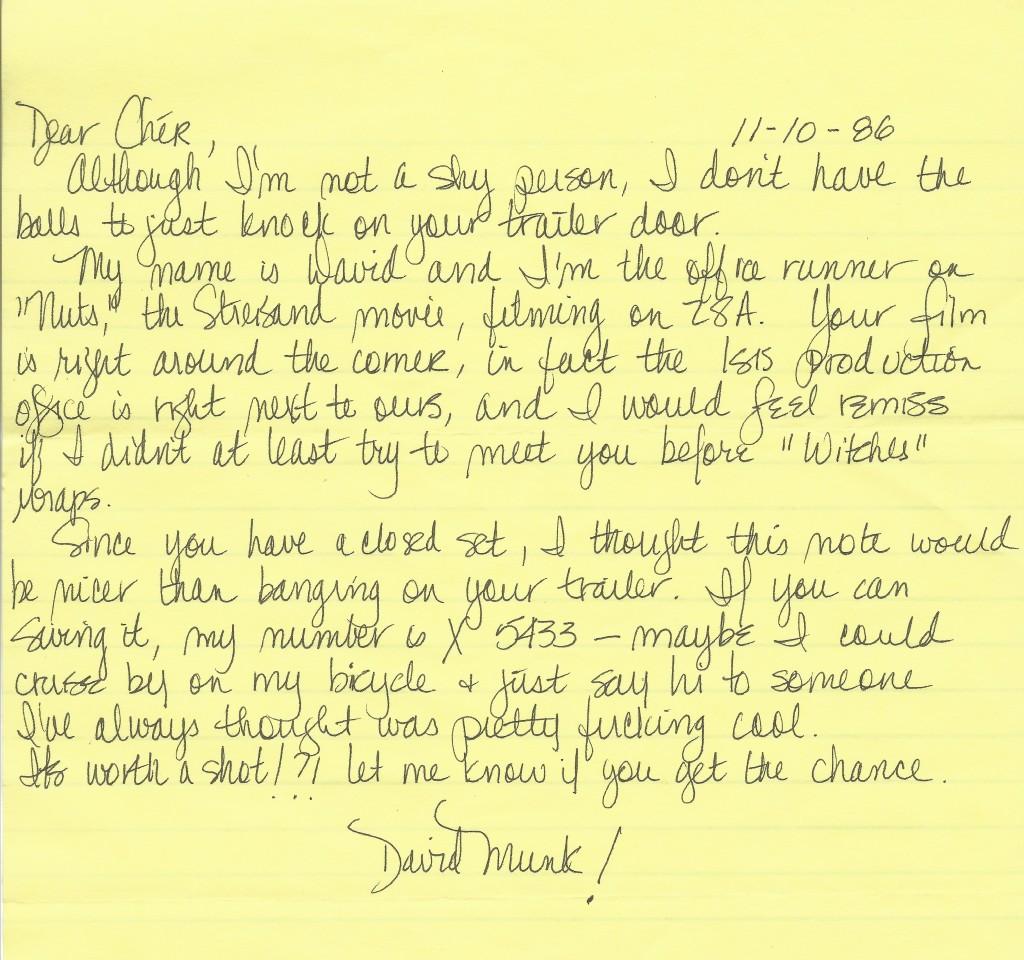 Cher Letter