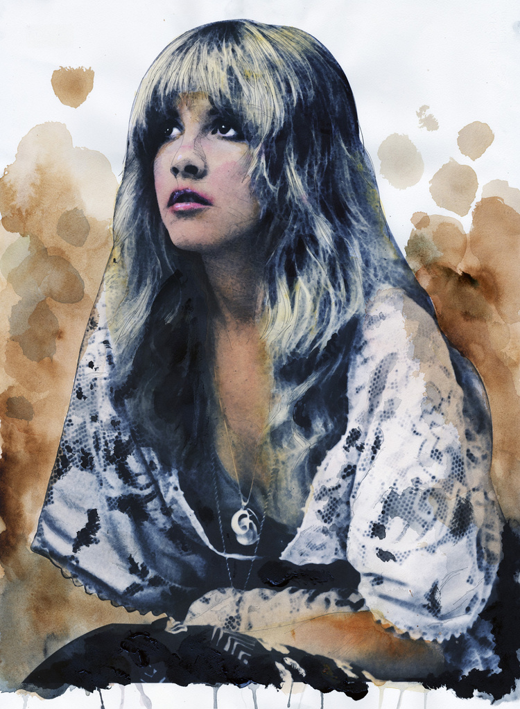 Stevie Nicks illustration, Ron Domingue