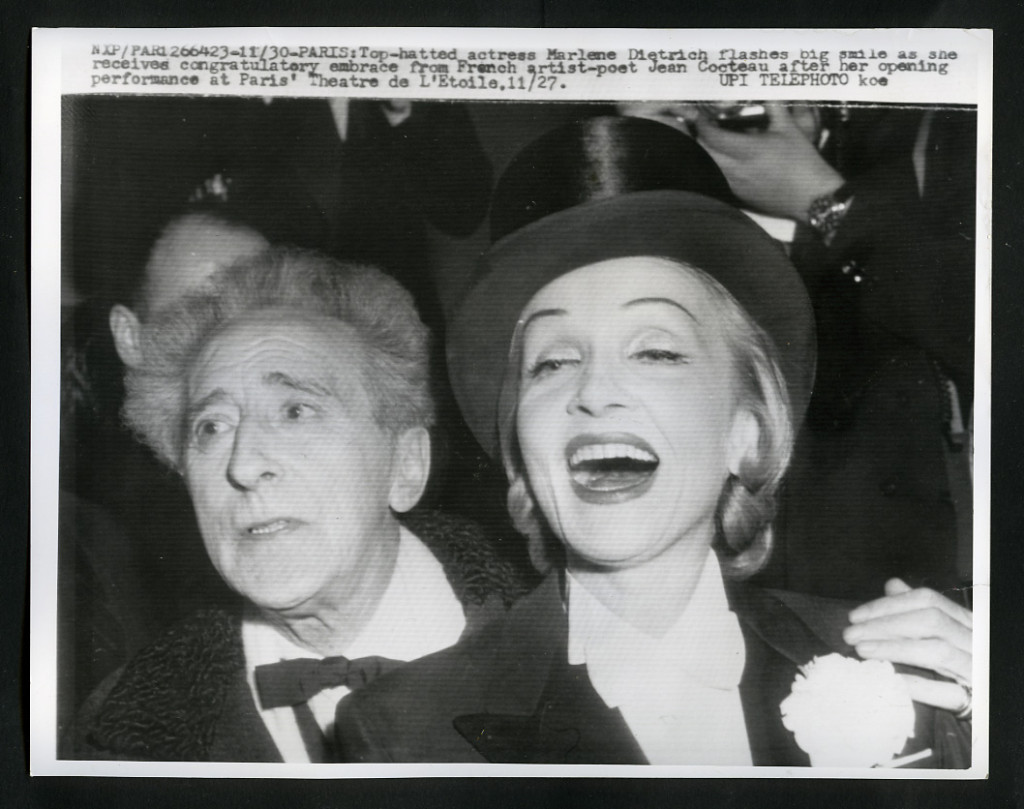 Marlene Dietrich and Jean Cocteau