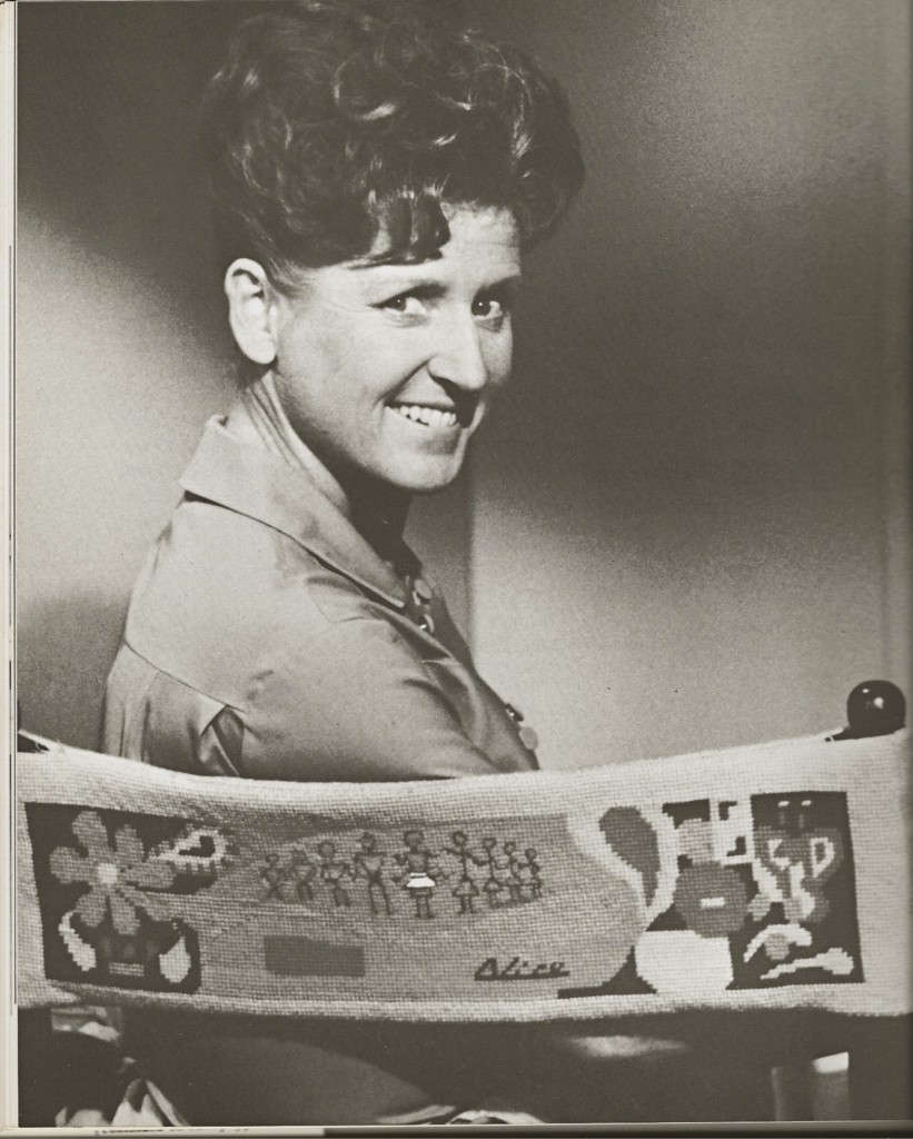 Ann B. Davis on set