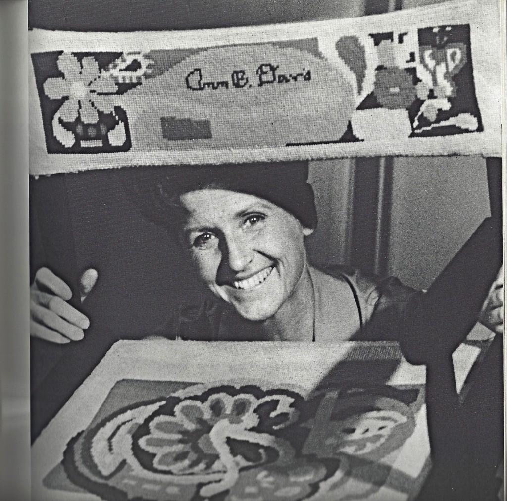 Ann B. Davis needlepoint