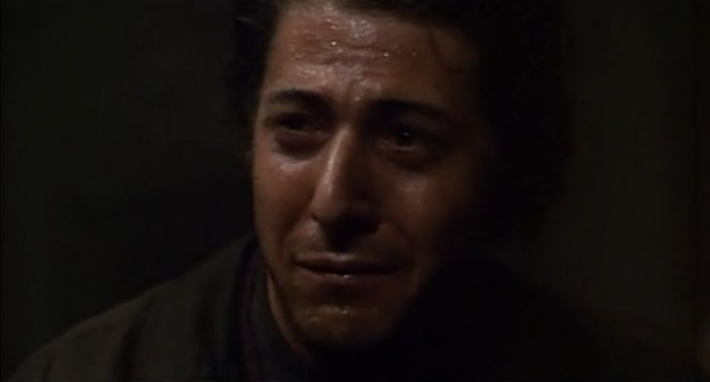 Dustin Hoffman crying