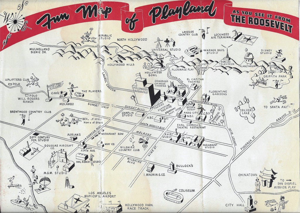 Hotel Roosevelt map 1950s