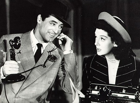 "Cary Grant on phone ""His Girl Friday"""