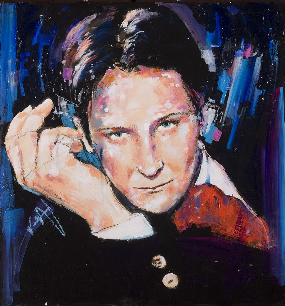 kd Lang painting