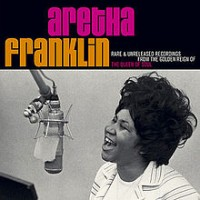 Aretha with microphone