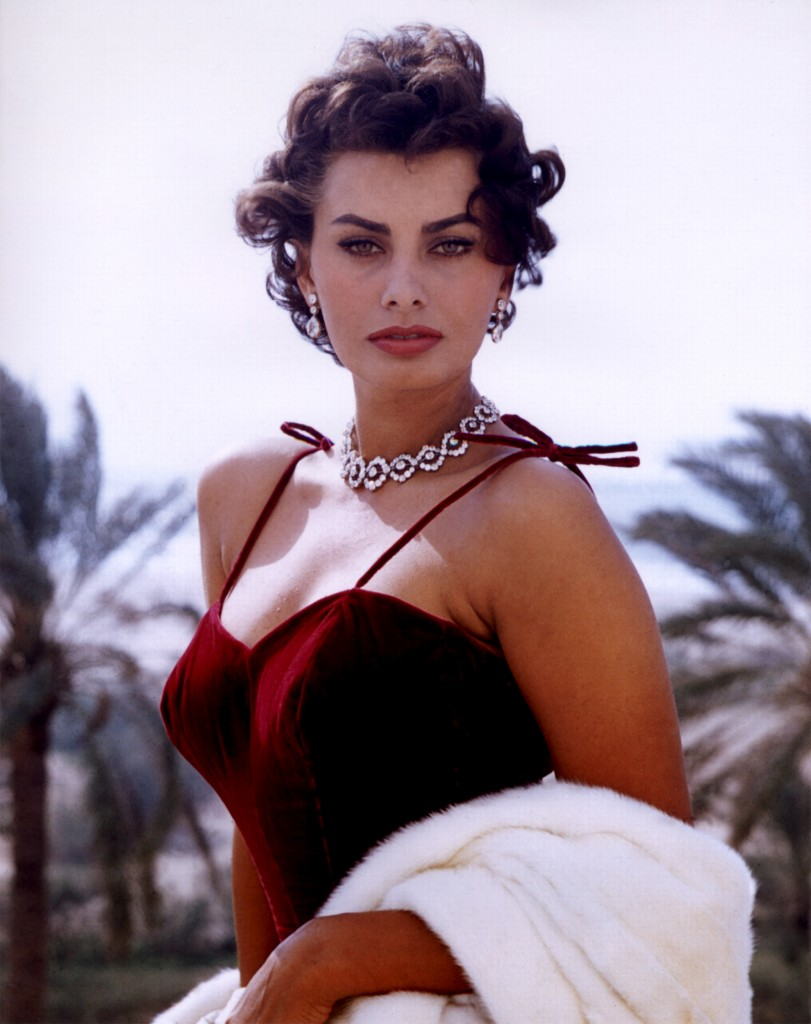 Sophia Loren red dress