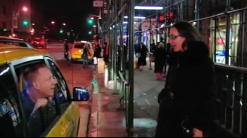 """Cash Cab"" street shout out"