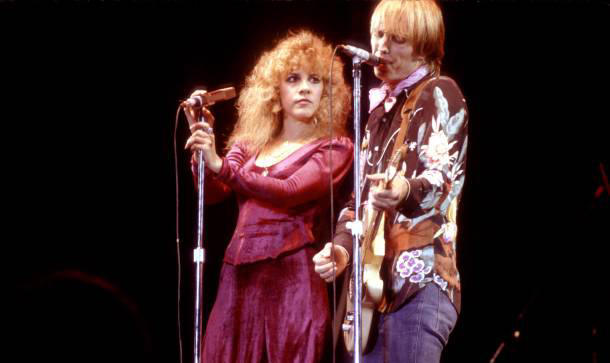 Tom Petty and Stevie Nicks performing