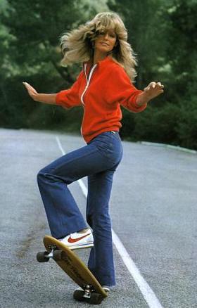Farrah Fawcett wearing Nike