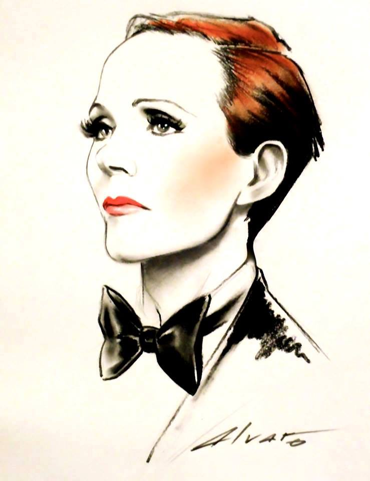 Julie Andrews illustration Alvaro