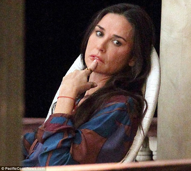 Demi Moore sad
