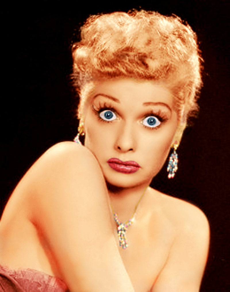 Lucille Ball recolored