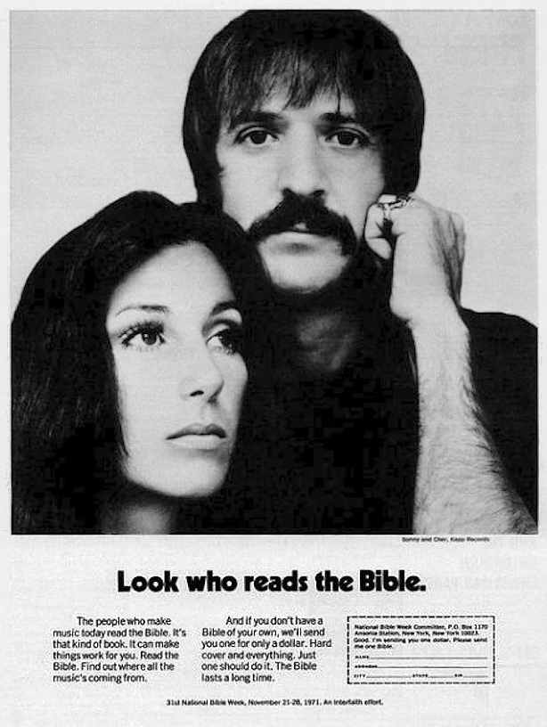 Sonny & Cher bible ad