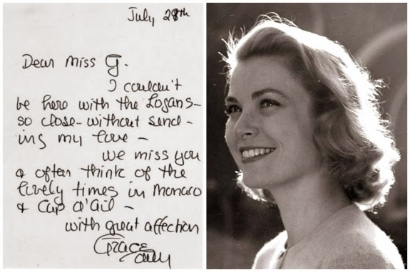 Grace Kelly letter, Greta Garbo