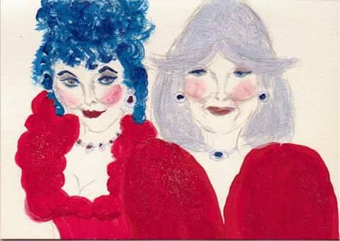 Joan Collins drawing