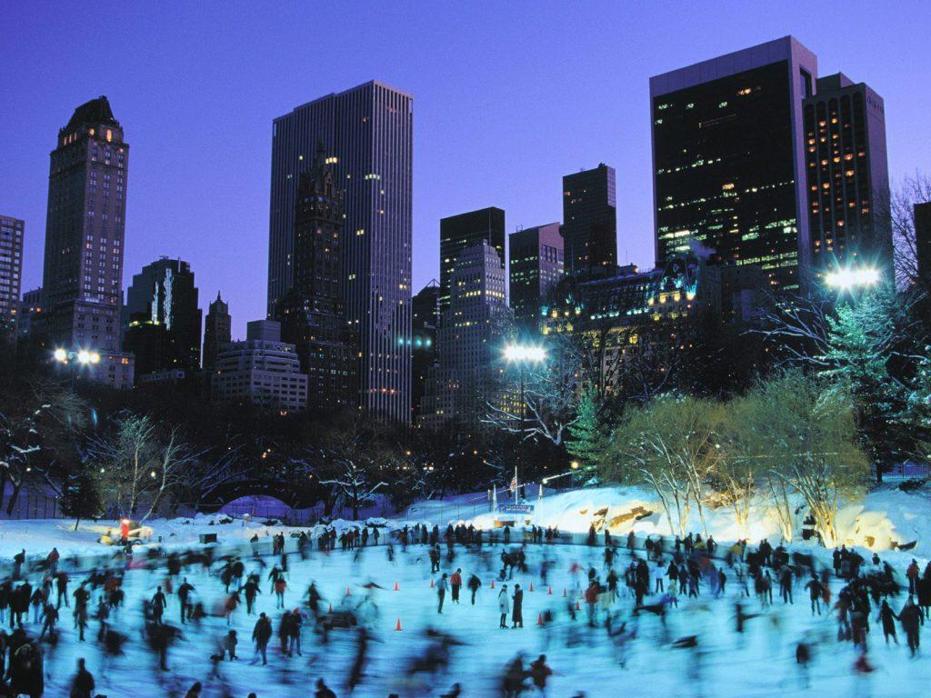 Central Park winter night